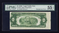 Error Notes:Skewed Reverse Printing, Fr. 1504 $2 1928C Legal Tender Note. PMG About Uncirculated 55EPQ.. ...