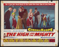 "Movie Posters:Adventure, The High and the Mighty (Warner Brothers, 1954). Half Sheet (22"" X28""). Adventure.. ..."
