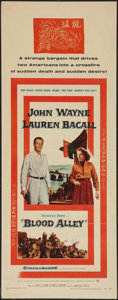 """Movie Posters:Action, Blood Alley (Warner Brothers, 1955). Insert (14"""" X 36""""). Action....."""