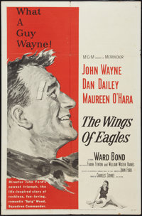 """The Wings of Eagles (MGM, 1957). One Sheet (27"""" X 41""""). Drama"""