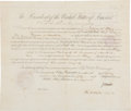 Autographs:U.S. Presidents, Zachary Taylor Consulate Appointment Signed. ...