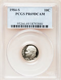 Proof Roosevelt Dimes: , 1984-S 10C PR69 Deep Cameo PCGS. PCGS Population (2463/145). NGCCensus: (371/43). Numismedia Wsl. Price for problem free ...