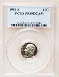 Proof Roosevelt Dimes: , 1984-S 10C PR69 Deep Cameo PCGS. PCGS Population (2493/154). NGCCensus: (373/43). Numismedia Wsl. Price for problem free ...