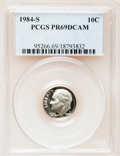 Proof Roosevelt Dimes: , 1984-S 10C PR69 Deep Cameo PCGS. PCGS Population (2463/145). NGCCensus: (373/43). Numismedia Wsl. Price for problem free ...