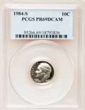 Proof Roosevelt Dimes: , 1984-S 10C PR69 Deep Cameo PCGS. PCGS Population (2463/145). NGCCensus: (370/43). Numismedia Wsl. Price for problem free ...