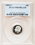 Proof Roosevelt Dimes, 2009-S 10C Clad PR69 Deep Cameo PCGS. PCGS Population (940/338).Numismedia Wsl. Price for problem free...