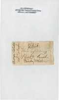 Autographs:Others, 1927 Babe Ruth, Lou Gehrig & Christy Walsh Signed Paper....