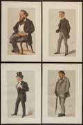 Books:Prints & Leaves, [Male Figures]. Group of 19 Color Prints. Various sizes. Verygood....