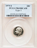 Proof Roosevelt Dimes: , 1979-S 10C Type One PR69 Deep Cameo PCGS. PCGS Population(4600/259). Numismedia Wsl. Price for problem...