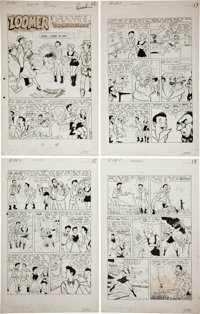"""Fred Eng Jetta of the 21st Century Complete 6-page Zoomer Story """"Time Out For Trouble"""" Original Art (S"""