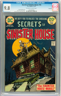 Secrets of Sinister House #16 Savannah pedigree (DC, 1974) CGC NM/MT 9.8 Off-white to white pages