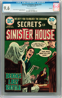 Secrets of Sinister House #17 Savannah pedigree (DC, 1974) CGC NM+ 9.6 Off-white to white pages