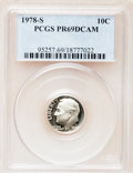 Proof Roosevelt Dimes: , 1978-S 10C PR69 Deep Cameo PCGS. PCGS Population (4564/250). NGCCensus: (316/40). Numismedia Wsl. Price for problem free ...