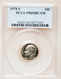 Proof Roosevelt Dimes: , 1978-S 10C PR69 Deep Cameo PCGS. PCGS Population (4564/250). NGCCensus: (316/41). Numismedia Wsl. Price for problem free ...