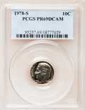 Proof Roosevelt Dimes: , 1978-S 10C PR69 Deep Cameo PCGS. PCGS Population (4564/250). NGCCensus: (313/41). Numismedia Wsl. Price for problem free ...