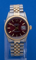 Timepieces:Wristwatch, Rolex Reference 16000 Steel & Gold Gents Oyster Perpetual Datejust. ...