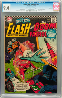 The Brave and the Bold #65 Flash and Doom Patrol - Savannah pedigree (DC, 1966) CGC NM 9.4 Cream to off-white pages
