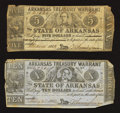 Obsoletes By State:Arkansas, Arkansas $5 and $10 State Civil War Warrants.. ... (Total: 2 notes)