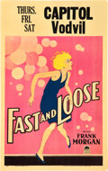 """Movie Posters:Comedy, Fast and Loose (Paramount, 1930). Window Card (14"""" X 22"""").. ..."""