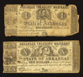 Obsoletes By State:Arkansas, $1 and $10 Arkansas Treasury Warrants.. ... (Total: 2 notes)