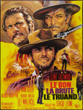 "Movie Posters:Western, The Good, the Bad and the Ugly (United Artists, R-1980s). FrenchGrande (47"" X 63"") and German Lobby Cards (R-1980s) (2) (9....(Total: 3 Items)"