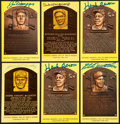 Baseball Collectibles:Others, Major League Baseball Signed Plaque Postcards Lot of 6....