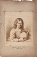 Books:Prints & Leaves, [Francisco Barbieri Guercino]. Portrait of a Teenage Boy with anOrb. ...