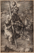 Books:Prints & Leaves, [Albrecht Dürer]. St. Christopher, facing right....