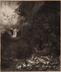 "Books:Prints & Leaves, [Rembrandt Van Rijn]. ""The Angel Appearing to the Shepherds."" ..."