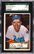 Baseball Cards:Singles (1950-1959), 1952 Topps Andy Pafko, Black Back #1 SGC 50 VG/EX 4....