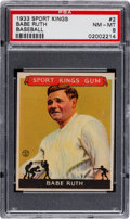 Baseball Cards:Singles (1930-1939), 1933 Goudey Sports Kings Babe Ruth #2 PSA NM-MT 8....