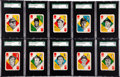 Baseball Cards:Lots, 1951 Topps Baseball Red Backs SGC-Graded Collection (14). ...