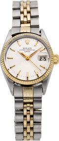Timepieces:Wristwatch, Rolex Lady's Two Tone Oyster Perpetual Date, circa 1960's. ...