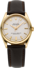 Timepieces:Wristwatch, Rolex Ref. 6567 Vintage 18K Oyster Perpetual, circa 1956. ...