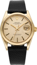 Timepieces:Wristwatch, Rolex Ref. 1503 Gold Oyster Perpetual Date, circa 1971. ...