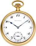 Timepieces:Pocket (post 1900), Patek Philippe & Co. Gold Pocket Watch For Spaulding & Co.Chicago, circa 1917. ...