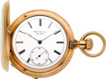 Timepieces:Pocket (pre 1900) , Jules Jurgensen Fine Gold Bow Set Hunters Case, No. 13829, circa 1880. ...
