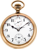 Timepieces:Pocket (post 1900), Rockford 17 Jewel Wind Indicator, circa 1912. ...