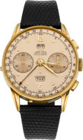 Timepieces:Wristwatch, Angelus 18k Chronodato, circa 1940's. ...
