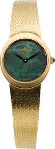 Timepieces:Wristwatch, Baume & Mercier Lady's 18k Gold Bracelet Watch, circa 1975. ...
