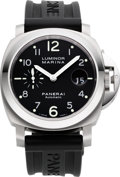 Timepieces:Wristwatch, Panerai Luminor Marina Firenze 1860 Steel Automatic, GO893/1000,PAM00164. ...