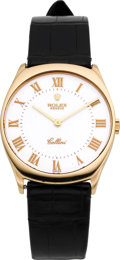 Timepieces:Wristwatch, Rolex Ref. 4133 Gold Cellini With Enamel Dial, circa 1990's. ...