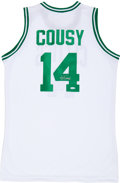 Basketball Collectibles:Uniforms, Bob Cousy Signed Jersey....