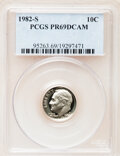 Proof Roosevelt Dimes: , 1982-S 10C PR69 Deep Cameo PCGS. PCGS Population (2535/109). NGCCensus: (393/53). Numismedia Wsl. Price for problem free ...
