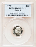 Proof Roosevelt Dimes: , 1979-S 10C Type One PR69 Deep Cameo PCGS. PCGS Population(4617/264). Numismedia Wsl. Price for problem...