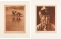 "Photography:Studio Portraits, Edward Sheriff Curtis (American, 1868-1952). Two Photogravures:""Water Rite Purification, Cheyenne Animal Dance"" Plate 662 [an...(Total: 2 Items)"