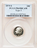 Proof Roosevelt Dimes: , 1979-S 10C Type One PR69 Deep Cameo PCGS. PCGS Population(4632/267). Numismedia Wsl. Price for problem...