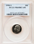Proof Roosevelt Dimes: , 1990-S 10C PR69 Deep Cameo PCGS. PCGS Population (2955/212). NGCCensus: (362/134). Numismedia Wsl. Price for problem free...