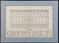Books:Prints & Leaves, Architectural Illustration for the New York Racquet and TennisClub, Ca. 1917. Architects: McKim, Mead & White. Lighttoning...
