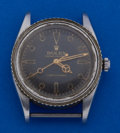 Timepieces:Wristwatch, Rolex Reference 6202 Rare Oyster Perpetual Turn-O-Graph Steel Wristwatch. ...
